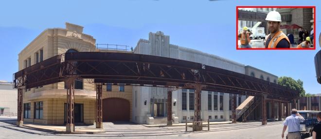 Warner Bros Studio backlot ER set