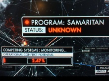 The Machine changes Samaritan's status to unknown and considers the potential for system conflict.