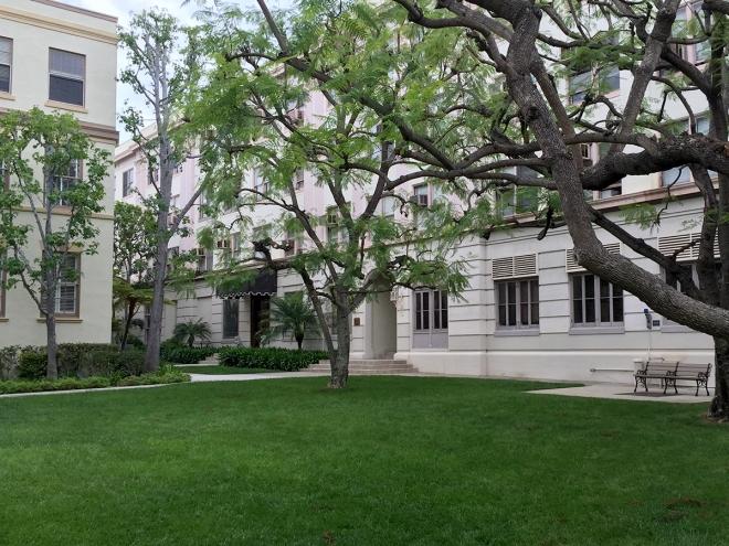 Paramount Studios courtyard