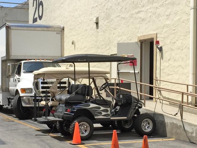 Dr. Phil's golf cart