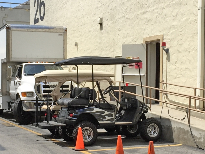 Dr. Phil's golf cart