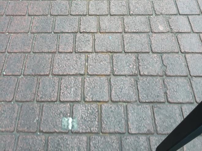 Fake brick street