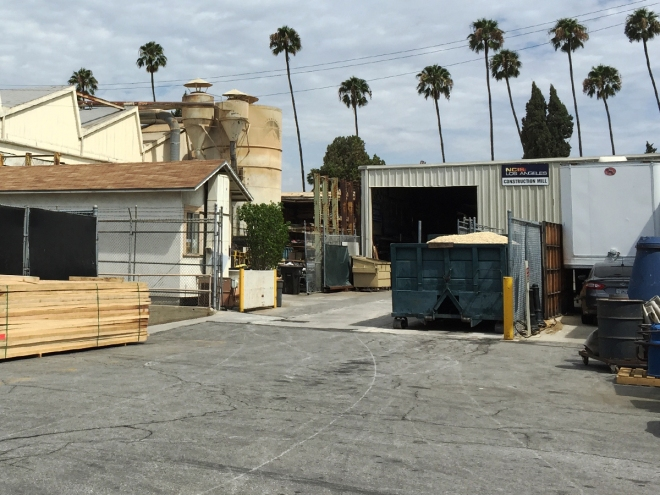 Paramount Studios set construction